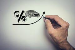 Verhoging van rente op autoleningen Royalty-vrije Stock Afbeelding
