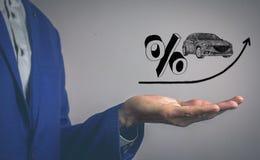 Verhoging van rente op autoleningen Royalty-vrije Stock Fotografie