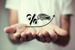 Verhoging van rente op autoleningen Royalty-vrije Stock Afbeeldingen