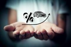 Verhoging van rente op autoleningen Stock Foto's