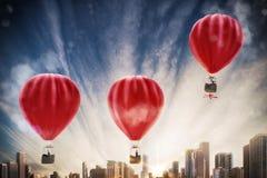 Verhoging voor succes het 3D teruggeven Royalty-vrije Stock Afbeeldingen
