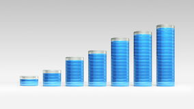 Verhogings economische grafiek 3D cirkelGrafiek 1 vector illustratie