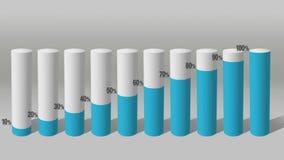Verhogings economische grafiek 3D Grafiek 2 van de Cilindercirkel royalty-vrije illustratie