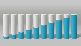 Verhogings economische grafiek 3D Grafiek 1 van de Cilindercirkel royalty-vrije illustratie