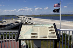 Verhoogde weg Oceaanstad, New Jersey Royalty-vrije Stock Foto