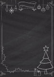 Verical christmas blackboard-border Royalty Free Stock Photography