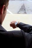 Verific o relógio Imagem de Stock