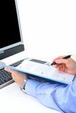 Verific um acordo Imagens de Stock Royalty Free
