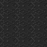 verificação de papel escura Dot Frame Line do quadrado da cruz da geometria da arte 3D Fotografia de Stock Royalty Free