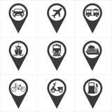 Verificação de pino do ícone no lugar Imagens de Stock Royalty Free