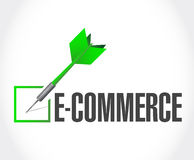 verificação do dardo do comércio eletrônico da ilustração da aprovação Imagem de Stock Royalty Free