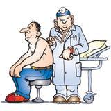 Verificação do doutor ilustração royalty free