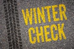 Verificação do inverno Fotografia de Stock