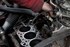 Verificação do motor acima Foto de Stock Royalty Free