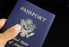 Verificação do passaporte foto de stock