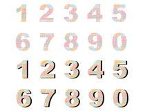 Verificação dos números Imagem de Stock