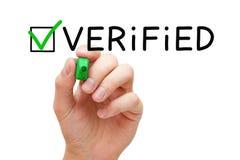 Verificação verde verificada Mark Concept Imagens de Stock