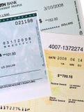 Verificações de banco comercial. fotografia de stock royalty free