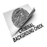 Verifica degli antecedenti criminale Fotografie Stock Libere da Diritti