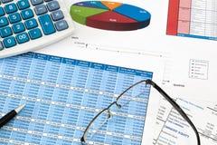 Verifica finanziaria Fotografia Stock Libera da Diritti