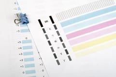 Verificación de impresora imagen de archivo libre de regalías