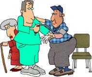 Verificación de presión arterial ilustración del vector