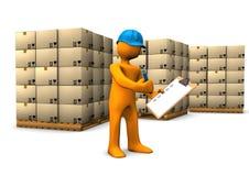 Verificación del almacén Foto de archivo libre de regalías