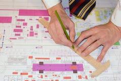Verificación experta del proyecto de la ingeniería Fotos de archivo libres de regalías