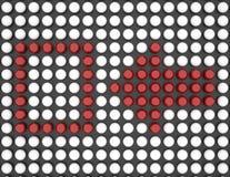 Verificación roja Fotografía de archivo