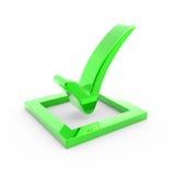 Verificación verde Imagen de archivo