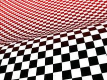 Verificaciones negras, blancas, y del rojo Foto de archivo libre de regalías