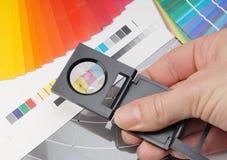Verificador de linho Fotos de Stock