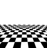 Verificador preto e branco 3D rendeu a imagem Fotografia de Stock