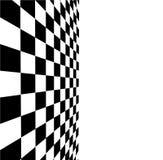 Verificador preto e branco 3D rendeu a imagem Fotos de Stock