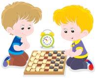 Verificadores do jogo de crianças Imagem de Stock Royalty Free