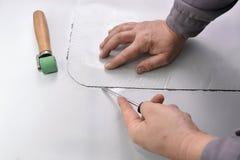 Verificando a membrana soldada errada Imagem de Stock