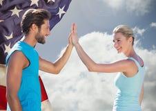 Verificando povos para ver se há o Dia da Independência Fotografia de Stock