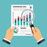 Verificando, processo di imposta, concetto di contabilità Fotografie Stock Libere da Diritti