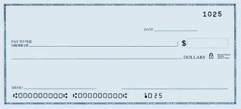 Verificação em branco com números falsos Imagem de Stock Royalty Free