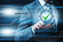 Verification System Control Biometric Business Internet Technology Concept.  royalty free stock image