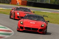 Verifichi il programma Mugello di Ferrari 599XX Fotografie Stock Libere da Diritti