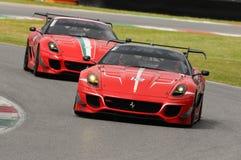 Verifichi il programma Mugello di Ferrari 599XX Immagini Stock Libere da Diritti