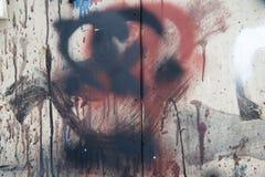 Verifichi il vecchio fondo dipinto della parete Fotografia Stock