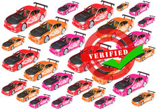 Verified cars royalty free stock photography