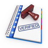 Verified concept Royalty Free Stock Images