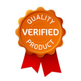 Verified emblem stock illustration