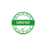 Verified grunge stamp Royalty Free Stock Photography