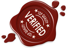Verified label seal isolated. On white background, 3D rendering Stock Photography