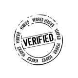 Verified mail stamp vector. Vectored illustration of verify section rubber stamp commonly used for mail, boxes or documents, but now also popular for web sites Stock Photography