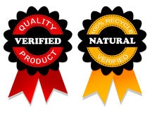Verified  and natural emblem Royalty Free Stock Photos
